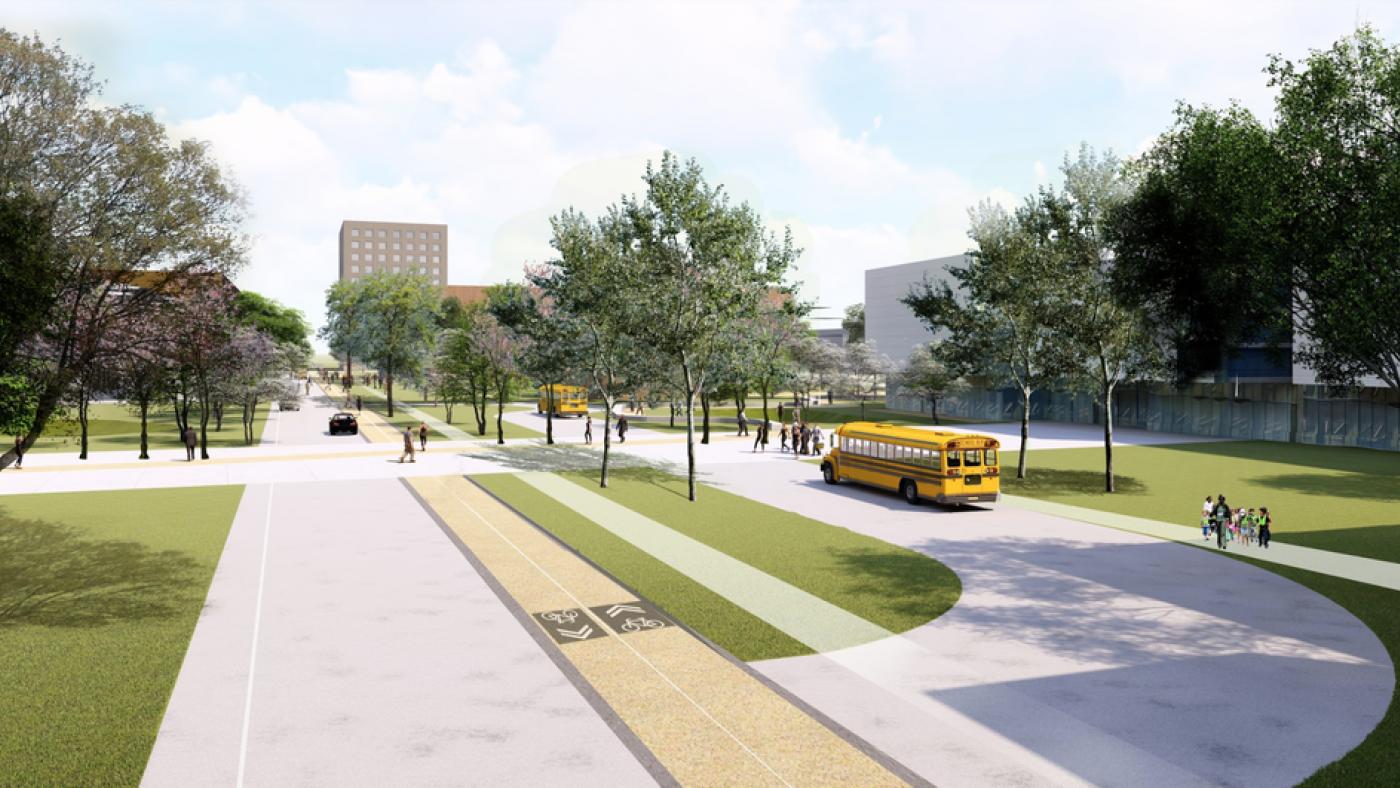 The plan will favor pedestrian traffic, adjusting the movement and speeds of traffic moving through the district.