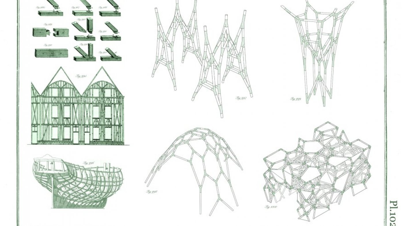 Reimagining heavy timber joinery into four structural systems: a frame, column, shell, and hedge