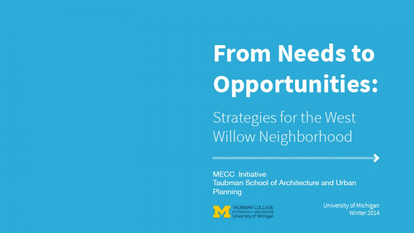 From Needs to Opportunities: Strategies for the West Willow Neighborhood