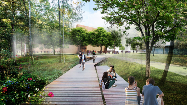 The plan calls for a series of public art projects, green space and gardens. Each institution will work with the team to choose specific projects that will end up in the final plan.